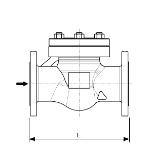 Check valve for gaseous oxygen service – 255900 SERIES | Dimensions