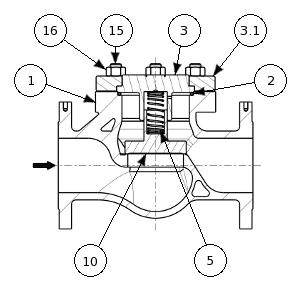 Check valve for gaseous oxygen service – 255900 SERIES | Nomenclature