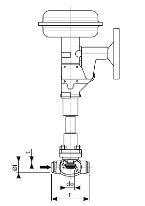 Stainless steel control or ON/OFF valve – 600700 SERIES | Dimensions