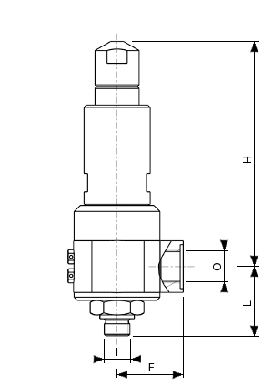 High pressure bronze safety valve – 775100 SERIES | Dimensions